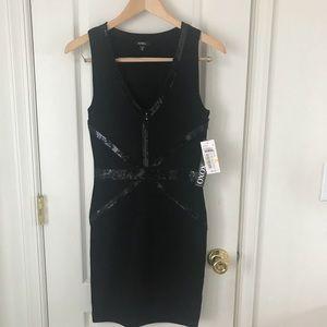 NWT XOXO Juniors Medium Black Banded Bodycon Dress